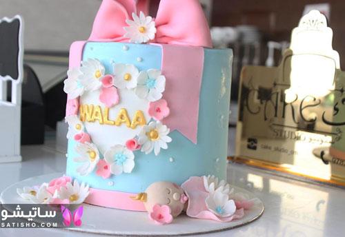 کیک تولد دخترانه تزیین شده باکلاس