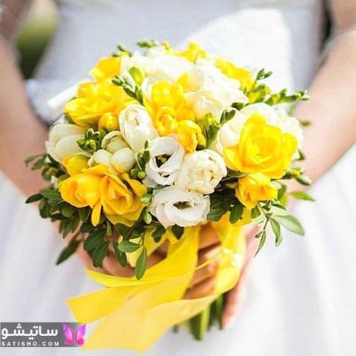نمونه دسته گل عروسی شیک