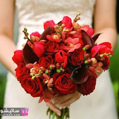 دسته گل اروپایی بسیار زیبا و شیک برای عروسی