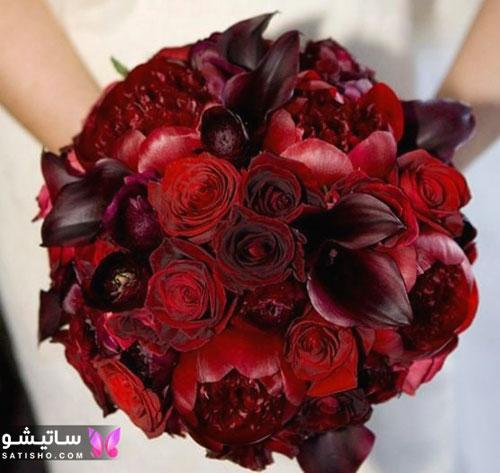 جدیدترین مدل دسته گل عروس با گل رز