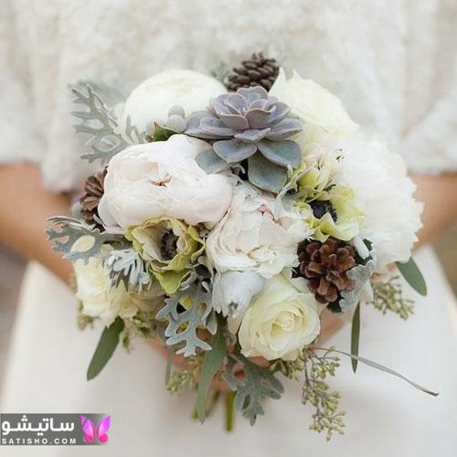 تزیین بسیار جالب دسته گل عروس