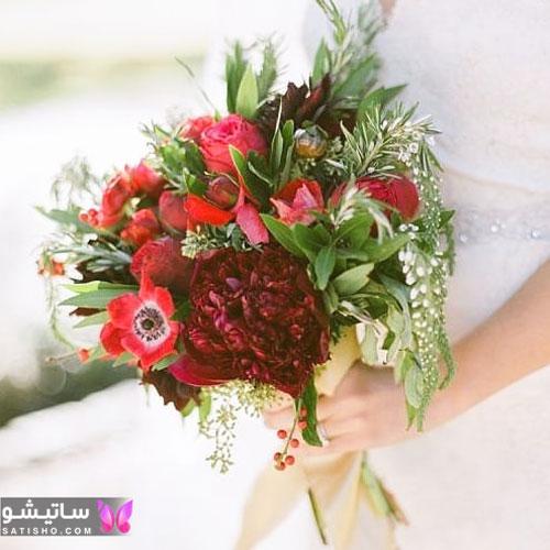 نمونه دسته گل عروس باکلاس