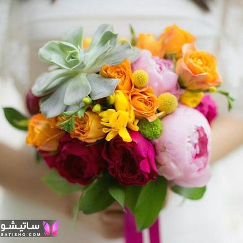 مدل دسته گل طبیعی عروس