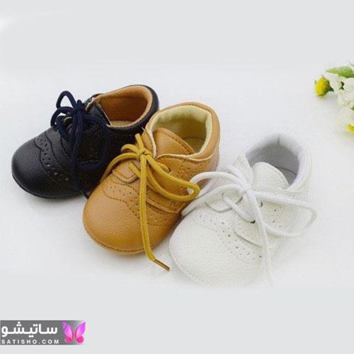 جدیدترین مدل کفش بافت پسرانه بچه گانه