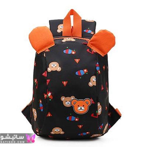 کیف مشکی طرحدار دخترانه مناسب ابتدایی