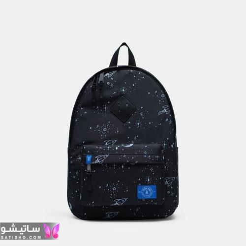کیف دخترانه مشکی طرحدار راهنمایی و دبیرستان