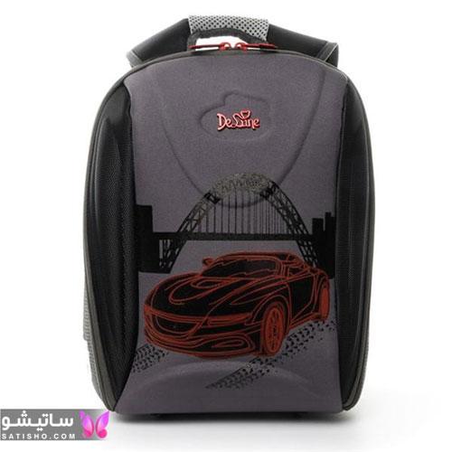 کیف مدرسه پسرانه چرخ دار طرح ماشین