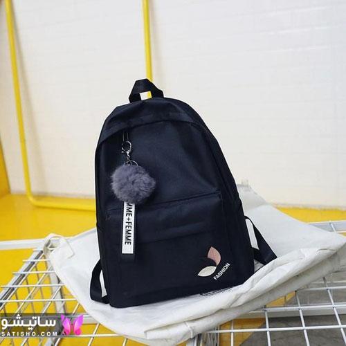 کیف مدرسه دخترانه همراه با پیکسل و آویز