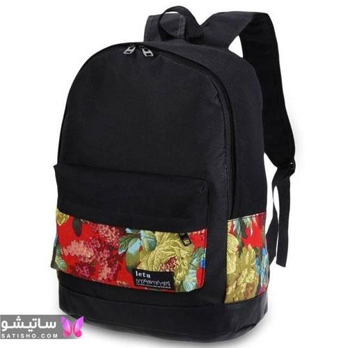مدل کیف مدرسه دخترانه دبیرستانی جدید رنگ مشکی