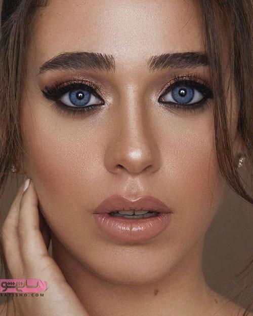 مدل آرایش چشم عروس ایرانی جدید