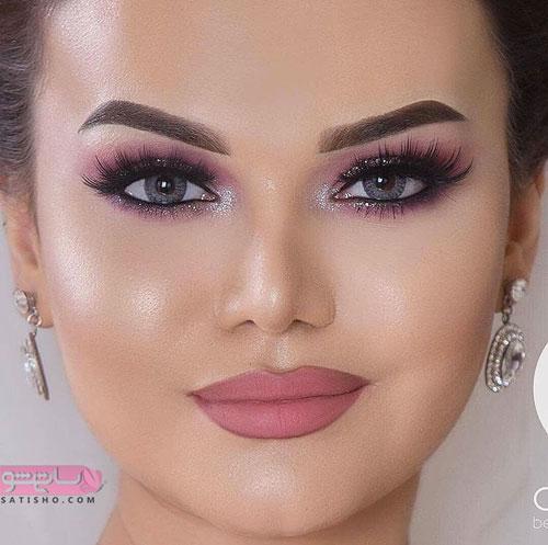 آرایش صورت عروس ایرانی به سبک اروپایی