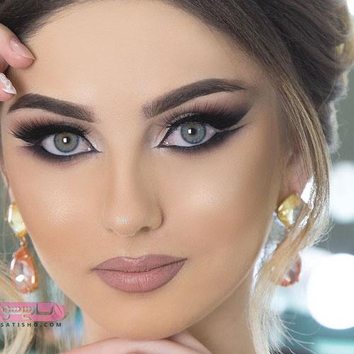 خط چشم گربه ای مناسب میکاپ عروس ایرانی