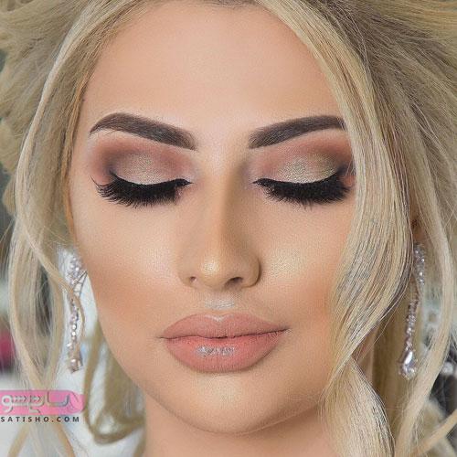 زیباترین مدل های آرایش عروس ایرانی جدید