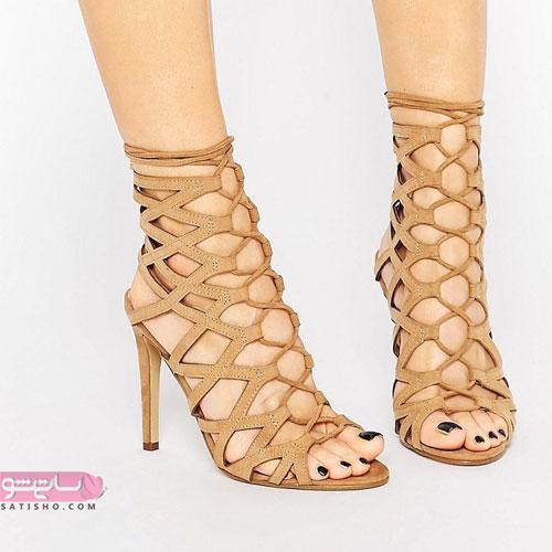 کفش زنانه عسلی رنگ