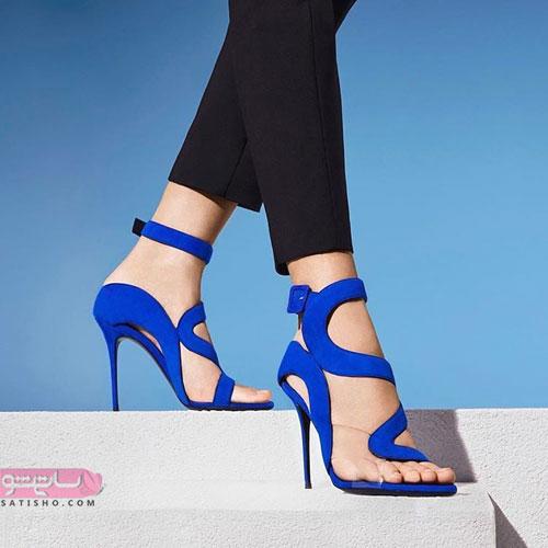 کفش مجلسی دخترانه آبی
