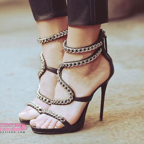 کفش پاشنه بلند مجلسی دخترانه