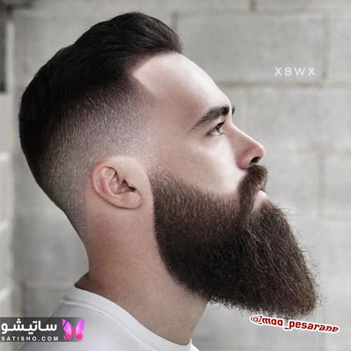 مدل مو مردانه لاکچری با ریش بلند