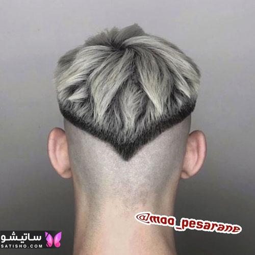 مدل مو آندرکات مردانه به شکل گل