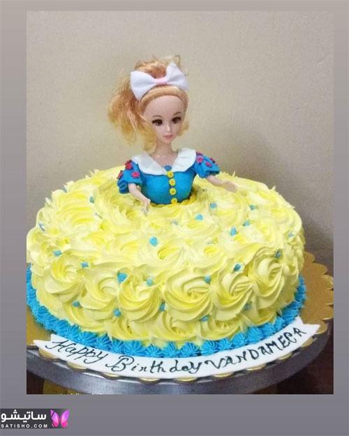 کیک تولد عروسکی سفیدبرفی