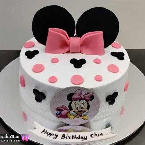 دیزاین کیک تولد به شکل مینی ماوس