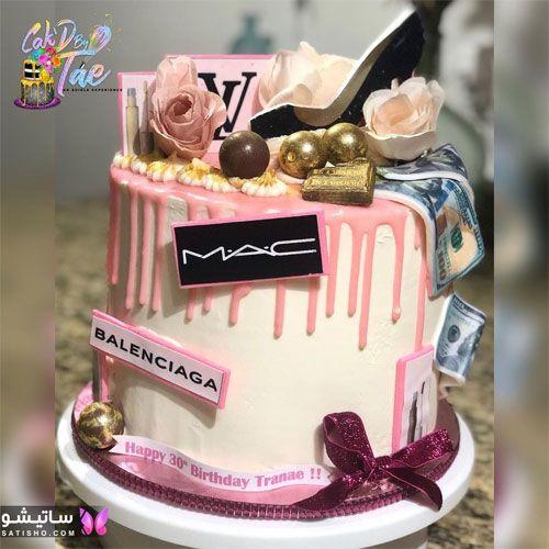 تزیین کیک تولد نوجوان دختر