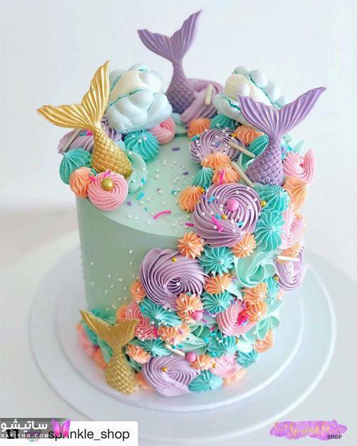 ایده دیدنی تزیین کیک به شکل ماهی با خامه
