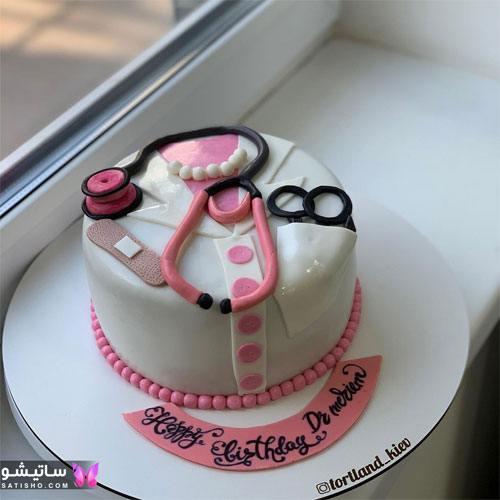 تزیین کیک تولد تصویر به شکل پزشکی