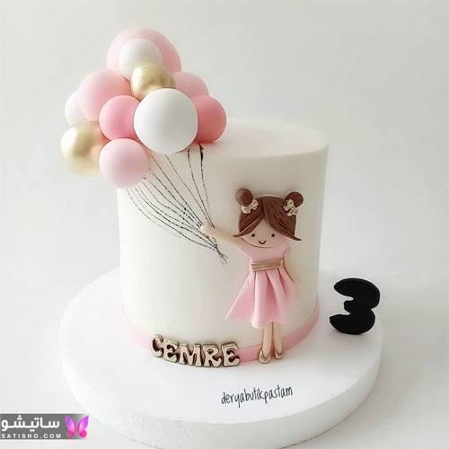عکس کیک تولد دخترانه فانتزی