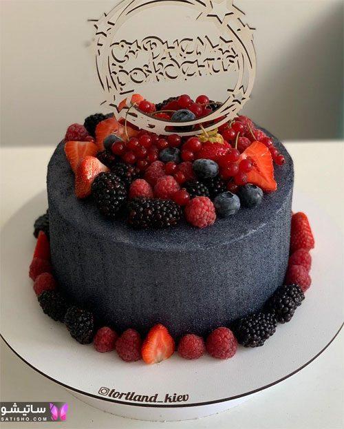 بهترین ایده تزیین کیک با توت فرنگی و شاه توت
