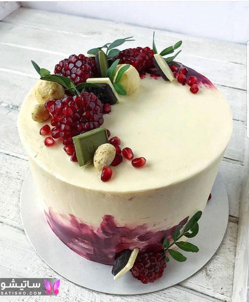 کیک تولد ساده و لاکچری زنانه