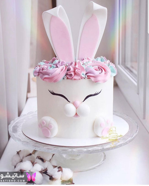 مدل کیک تولد دخترانه خامه ای