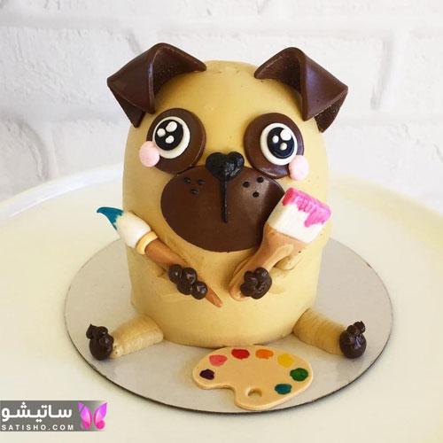 کیک تولد کودکانه به شکل شخصیت های کارتونی