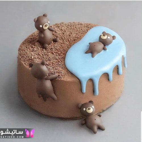 تزیین ساده کیک با شکلات