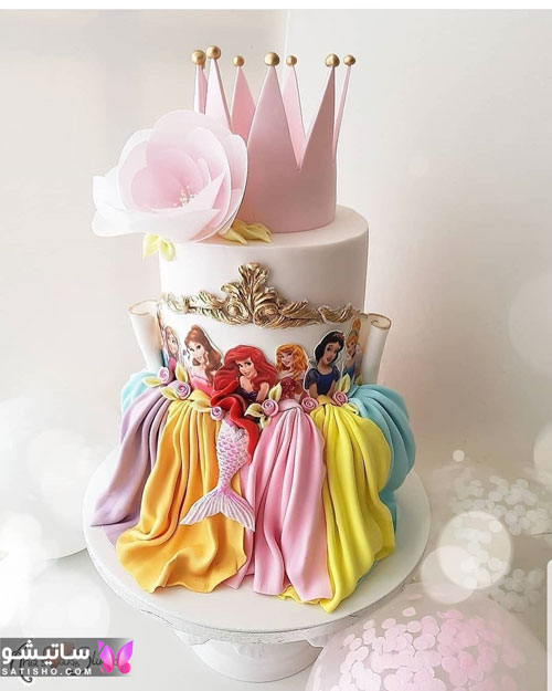 عکس کیک دخترانه باربی 2019 زیبا