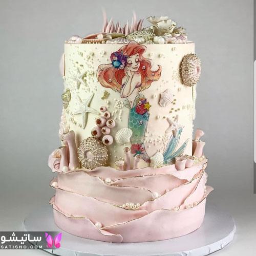 زیبا ترین کیک دخترانه پری دریایی