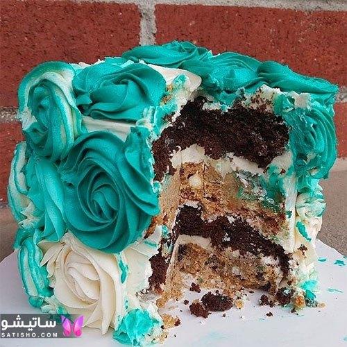 تزیین کیک شکلاتی با خامه