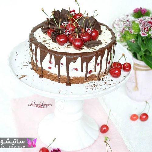 تزیین کیک شکلاتی خانگی برای تولد