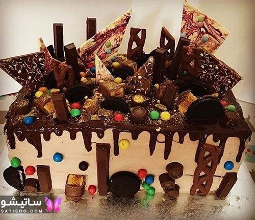 عکس کیک تولد خوشگل شکلاتی