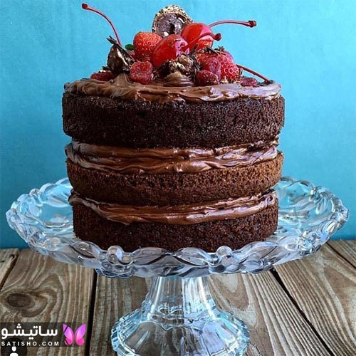 کیک کاکائویی زیبا مناسب تولد 2020