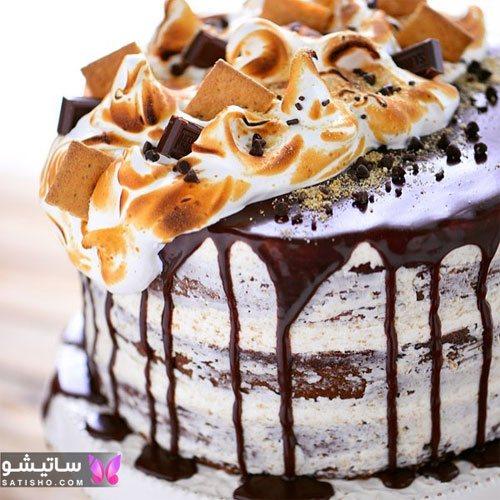 تزیین ساده و شیک کیک تولد 2020