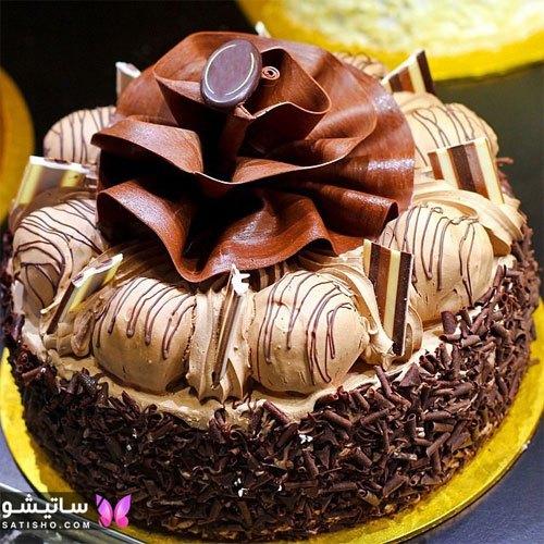 مدل تزیین باکلاس کیک شکلاتی