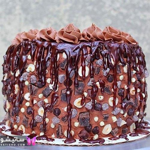 تزیین باکلاس کیک شکلاتی