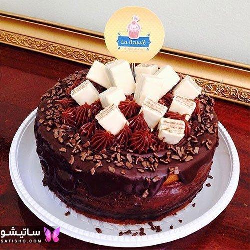 مدل تزیین کیک تولد با شکلات