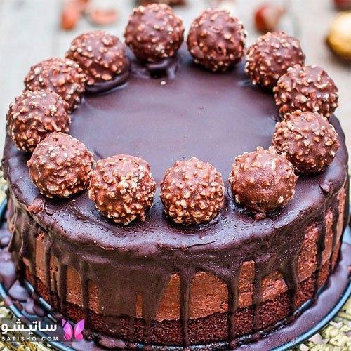 تزیین کیک تولد شکلاتی 2020