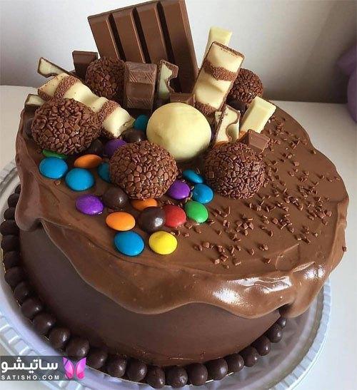 کیک تولد شکلاتی خوشگل دخترانه