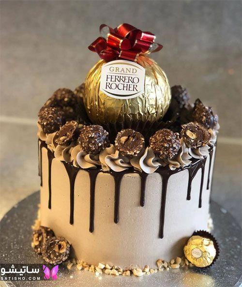 تزیین جذاب کیک شکلاتی برای تولد