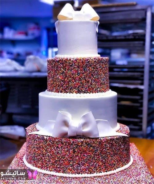 عکس کیک تولد شکلاتی بزرگ