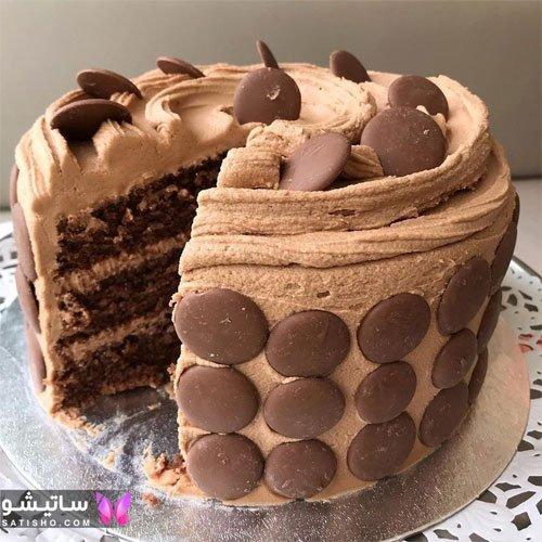 تزیین کیک تولد شکلاتی مردانه 99 ساده