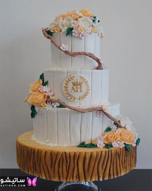 کیک تولد کلاسیک دخترانه چند طبقه
