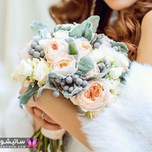 عکس تزیین دسته گل عروس جدید